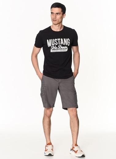 Mustang Mustang 02M00023177 Normal Bel Rahat Kesim Cepli Erkek Şort Antrasit